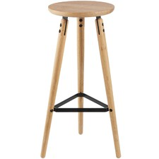 Oak & Metal Milo High Barstool