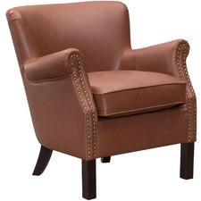 Vintage-Style Tyler Faux Leather Arm Chair