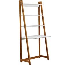 White & Blonde Bjorke Ladder Bookshelf & Desk