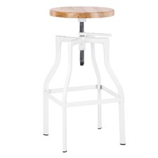Ash and Metal Mila Industrial Bar Stool