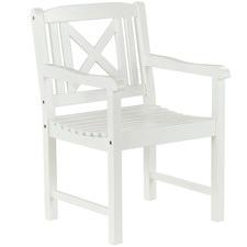 White Santa Cruz Outdoor Timber Armchair