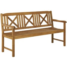 Santa Cruz 3 Seater Outdoor Timber Bench