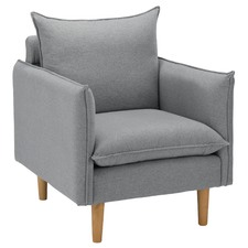 Moonlight Grey Hampstead Armchair