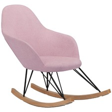 Blush Haley Rocking Chair