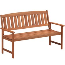 3 Seater Parklands Timber Outdoor Bench with Arm Rests