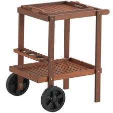 Parklands Timber Outdoor Serving Trolley