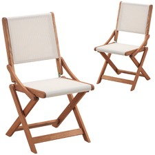 Parklands Timber Outdoor Folding Chairs (Set of 2)