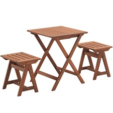 Parklands  Timber Outdoor Table & Stools Set