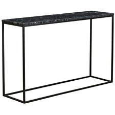 Black Siena Marble Console Table