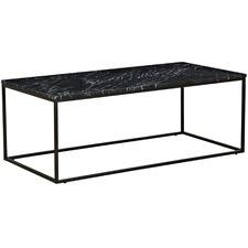 120cm Black Siena Marble Coffee Table