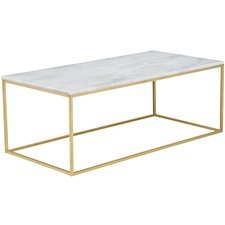 120cm White Siena Marble Coffee Table