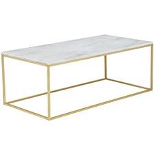 120cm White Siena Marble Coffee Table