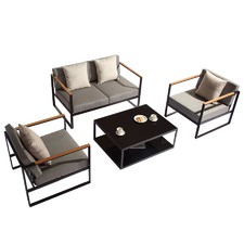 4 Piece Santorini Deluxe Outdoor Lounge Set