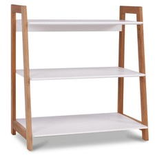 White & Blonde Bjorke 3 Tier Bookshelf