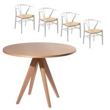 Whiteley & Wishbone 4 Seater Dining Set