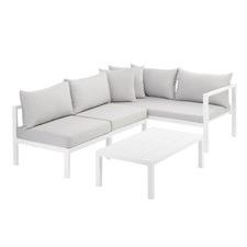 Grey Felix 4 Seater Aluminium Outdoor Sofa Set