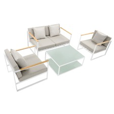 4 Seater Deluxe Whitehaven Outdoor Lounge Set