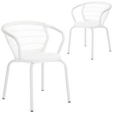 Raffles PE Rattan Outdoor Dining Chairs (Set of 2)
