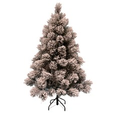 Frosted Green Snowy Mountain Premium Flocked Christmas Tree