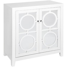 White Catalina Luxe Cabinet with Mirror