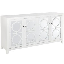 White Catalina Mirrored Luxe Buffet