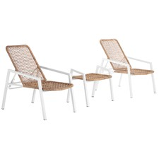 Mykonos 2 Seater Outdoor Reclining Chair & Table Set