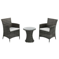 La Concha 3 Piece PE Rattan Coffee Set