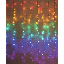 288 Multi-Coloured LED String Curtain Lights