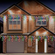 720 Multi-Coloured LED Solar Snowing Icicles