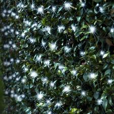 300 Cool White LED Solar Net Fairy Lights