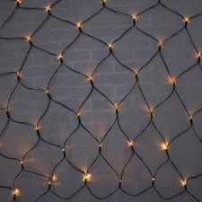 300 Warm White LED Solar Net Fairy Lights