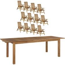 12 Seater Parklands Timber Outdoor Dining Set