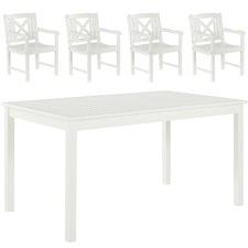 4 Seater Santa Cruz Outdoor Table & Armchairs Set