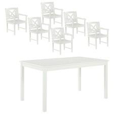 6 Seater Santa Cruz Outdoor Table & Armchairs Set