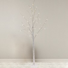 White LED Birch Christmas Tree