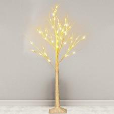 White LED Glitter Twig Christmas Tree