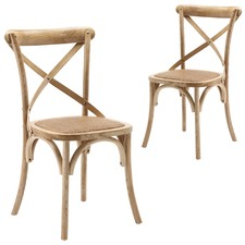 Bella Cross Back Dining Chair (Set of 2)