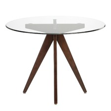 100cm Glass Top Round Dining Table
