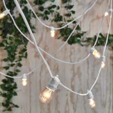 White Cable Outdoor Festoon Lights