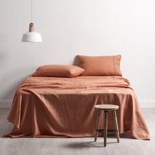 Cuffed & Piped Linen Sheet Set