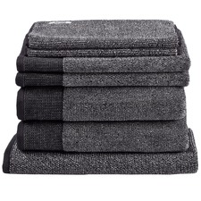 7 Piece Charcoal Marle Bathroom Towel Set