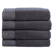 4 Piece Charcoal Bathroom Towel Set