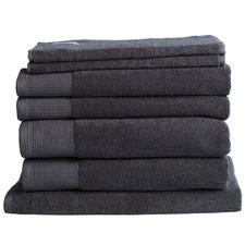 7 Piece Charcoal Plush Bathroom Towel Set