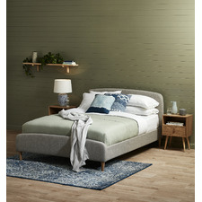 Grey Nordic Deco Upholstered Bed
