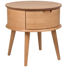 Olsen Scandinavian Style Curved 1 Drawer Bedside Table