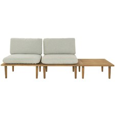 2 Seater Cuba Modular Acacia Wood Outdoor Sofa Set