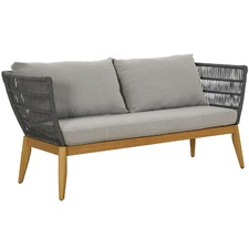 2 Seater Lorne Eucalyptus Wood & Rope Outdoor Sofa