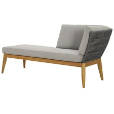 Lorne Eucalyptus Wood & Rope Outdoor Right Chaise