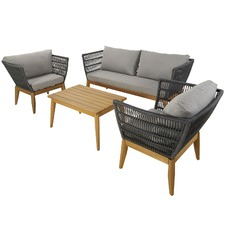 4 Seater Lorne Outdoor Lounge & Coffee Table Set