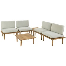 4 Seater Cuba Modular Outdoor Lounge & Table Set